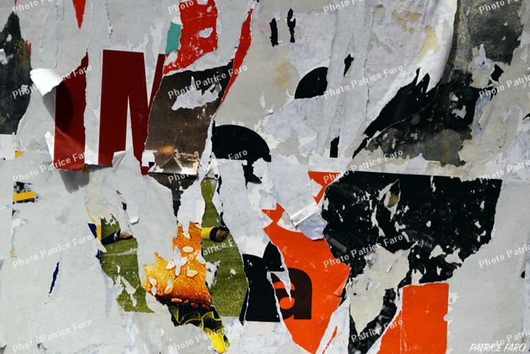 affiches déchirées photo Patrice Faro